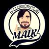 Ballonkünstler Niederrhein -lachender Mann mit Daumen hoch im Kreis und Schriftzug